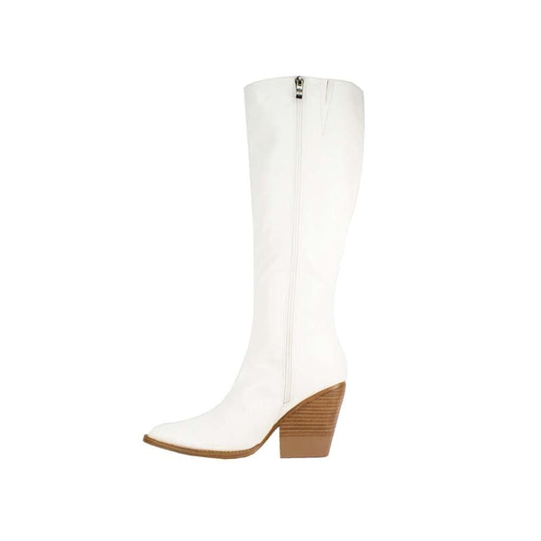 BOTINES White western croc boots STYLETTO