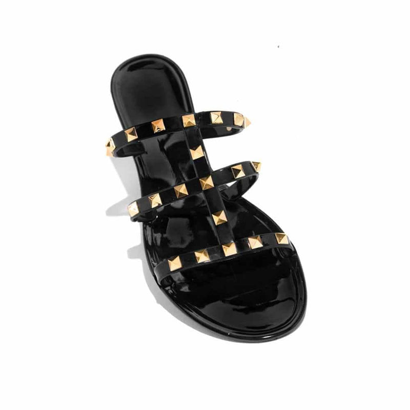JELLY BLACK SANDAL V2 STYLETTO