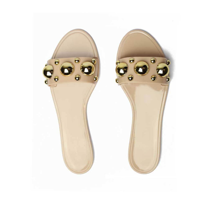 Jelly Nude/Gold Sandals STYLETTO