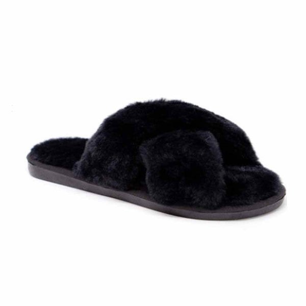 SANDALIAS Black Slipper STYLETTO
