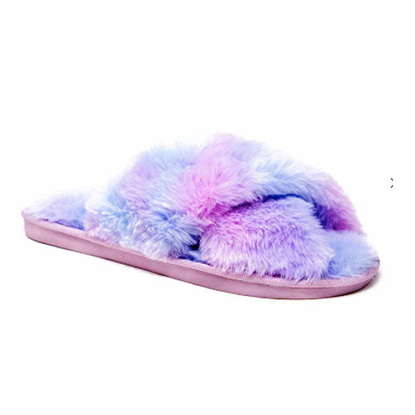 SANDALIAS Purple Tie Dye Slipper STYLETTO