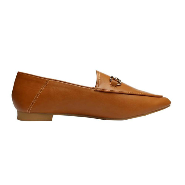 SANDALIAS Tan Loafers STYLETTO