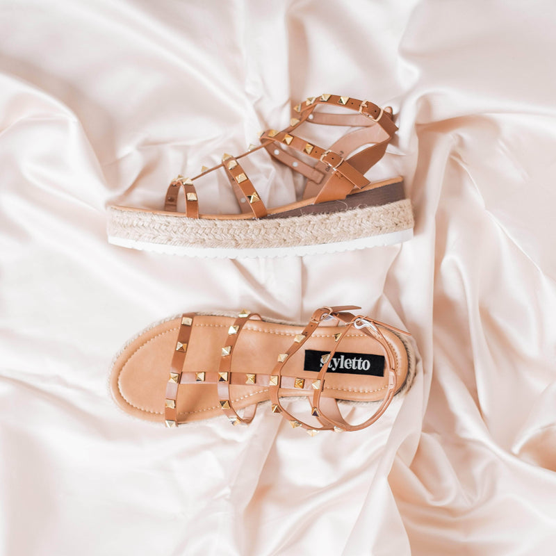 SANDALIAS Tan & Yute sandals STYLETTO