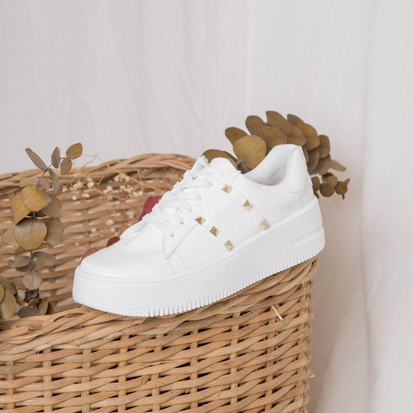 TENIS White snake sneakers STYLETTO