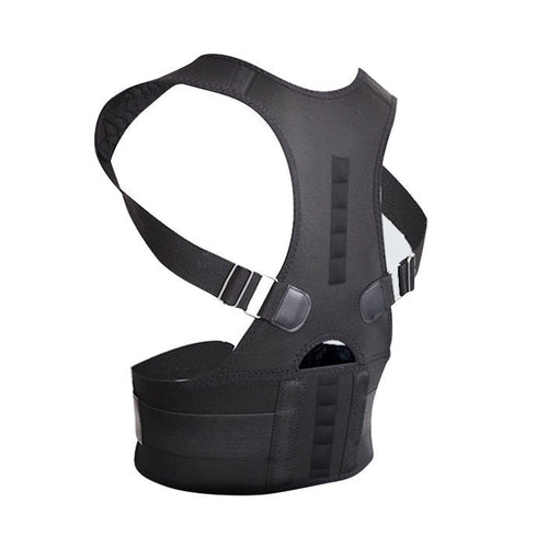 Posture Corrector Back Shoulder Support Brace with Magnets Black male female