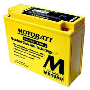 MB16AU Motobatt 12V AGM Battery
