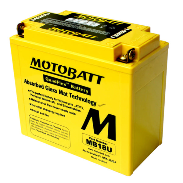 MB18U Motobatt 12V AGM Battery