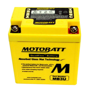 MB3U Motobatt 12V AGM Battery