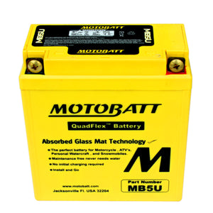 MB5U Motobatt 12V AGM Battery