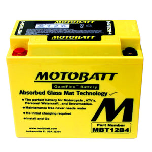 MBT12B-4 Motobatt 12V AGM Battery