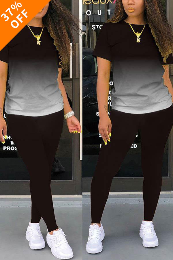 (MOTHER'S DAY BUY 2 GET 10% OFF&Free Shipping)Casual Sport Gradual Change Pants Set