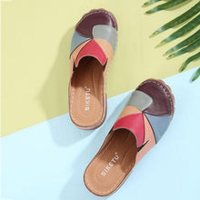 Load image into Gallery viewer, Women Comfortable Slip On Color Block Mules Slippers