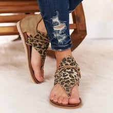 Load image into Gallery viewer, Women's Leopard Print Flat Sandals