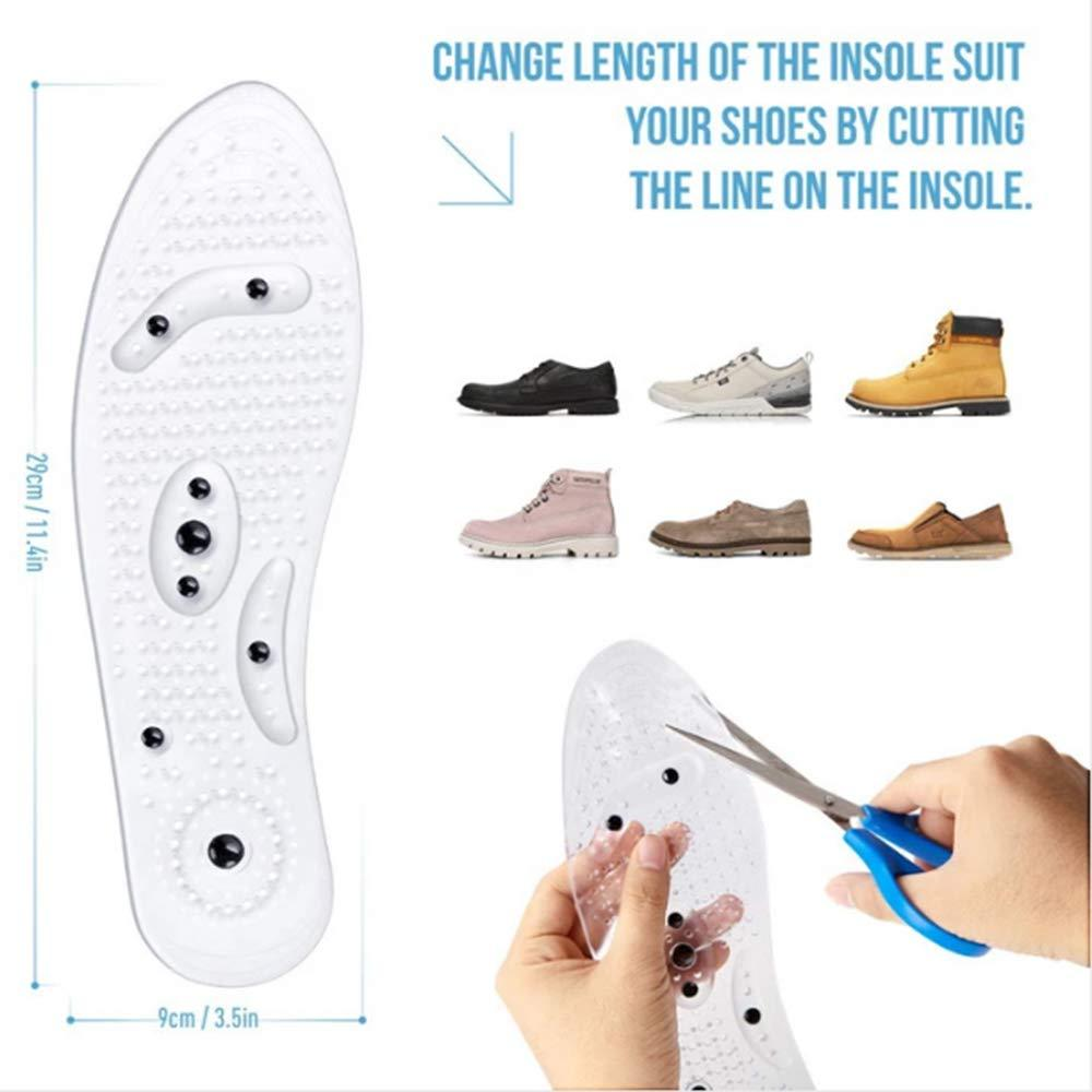 Insoles for Women & Men Cuttable Acupressure Magnetic Massage