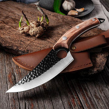 "Load image into Gallery viewer, Japanese Chef Knife, Hand-Forged Boning Knife 6"" Meat Cleaver"