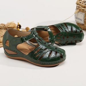 Women's Sandals Hollow Bow Comfortable Platform Sandals