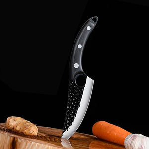 "Serbian Chef Knife, Hand-Forged Boning Knife 5.5"" Meat Cleaver - Letcase"