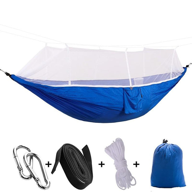 LuxRest™ Double Camping Hammock with Mosquito Net