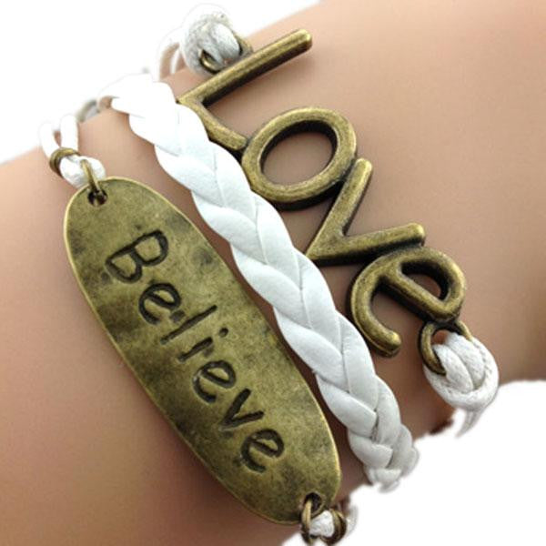 Believe Love White Bracelet