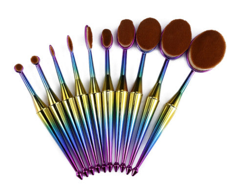 10 Piece Prism Oval Brush Set