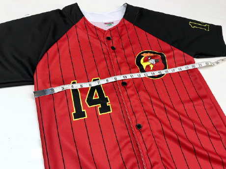 Measuring a Sublimation Baseball Jersey