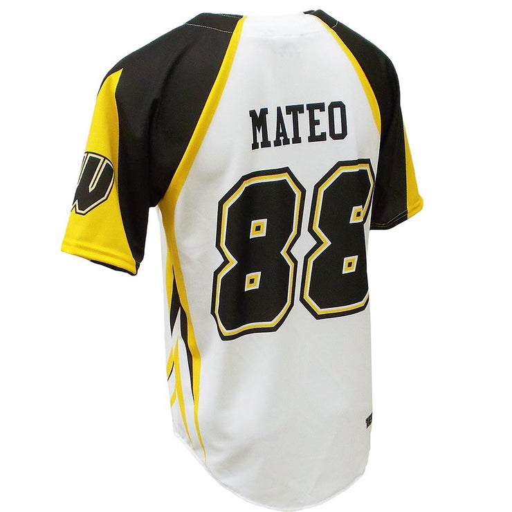 SBL 1009 - 2-Button Baseball Jersey - Back