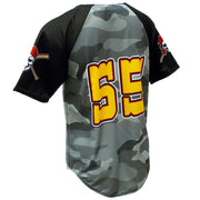 SBL 1015Y - 2-Button Baseball Jersey - Back