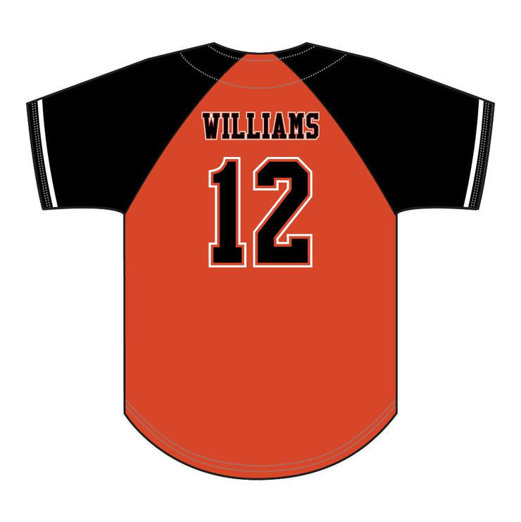 SBL 1031F - Full-Button Baseball Jersey - Back