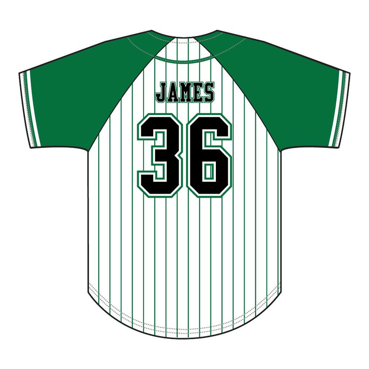 SBL 1032F - Full-Button Baseball Jersey - Back