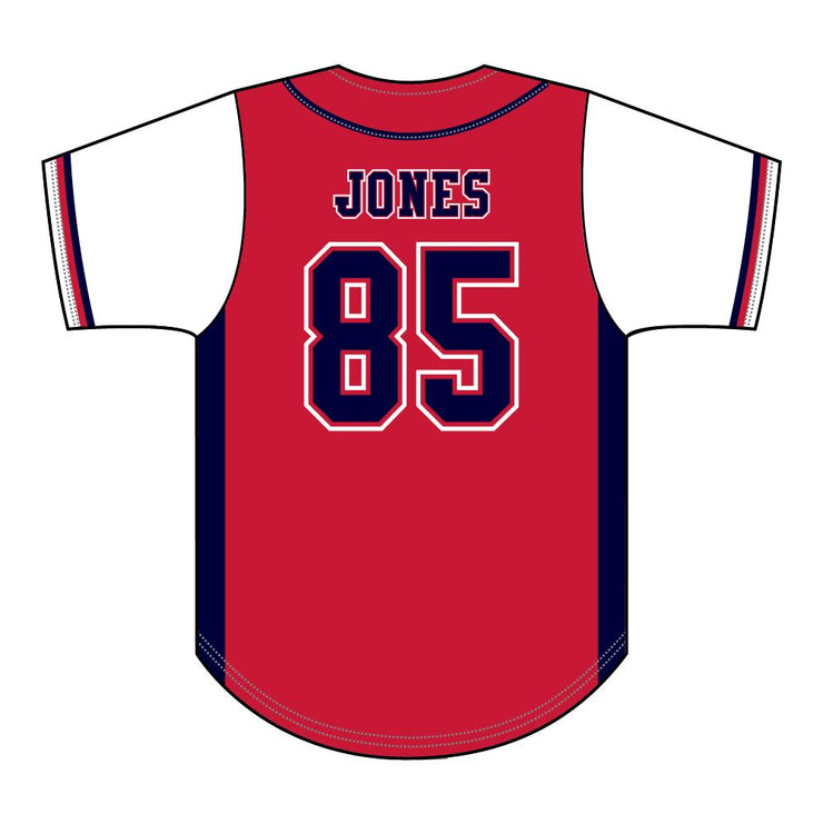 SBL 1035F - Full-Button Baseball Jersey - Back