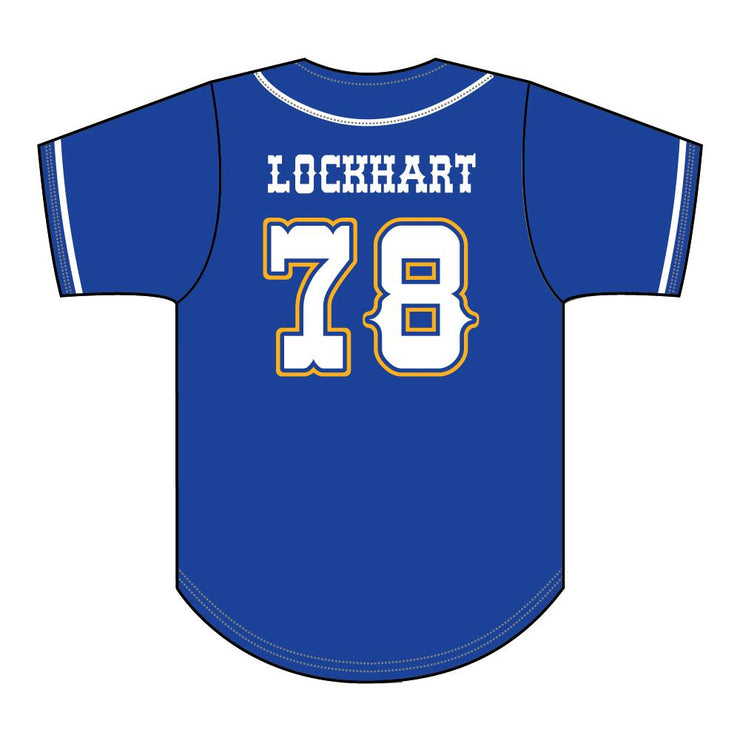 SBL 1037F - Full-Button Baseball Jersey - Back