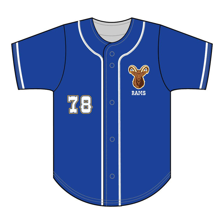 SBL 1037F - Full-Button Baseball Jersey