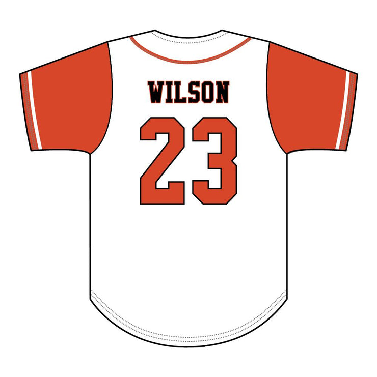 SBL 1038F - Full-Button Baseball Jersey - Back