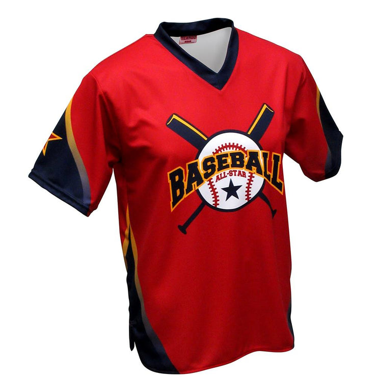 SBT 1002 - V-Neck Softball  Jersey