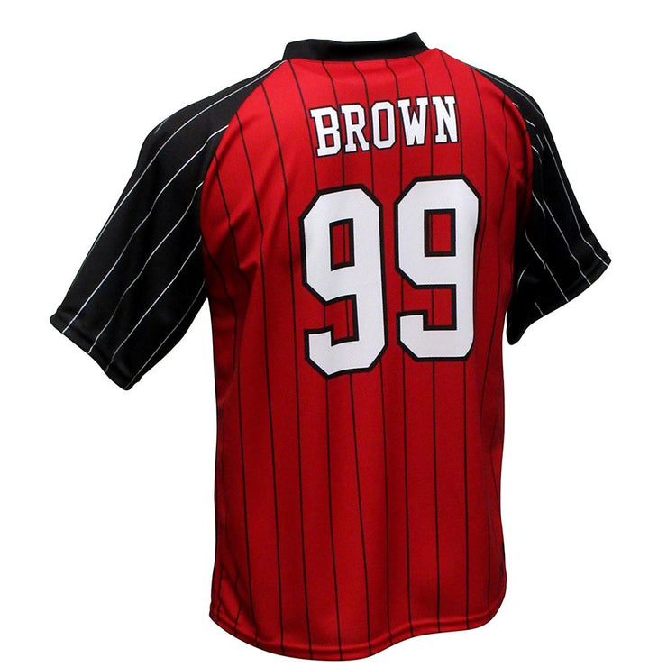 SBT 1005 - V-Neck Softball  Jersey - Back