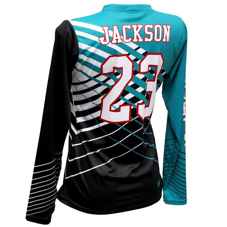 SVB 1104LS - Women's Long-Sleeve Volleyball Jersey - Back