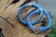 Load image into Gallery viewer, 2nd anniversary bracelets - denim cotton couple bracelets