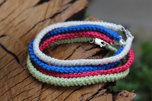 2nd anniversary cotton bracelet - personalised colours