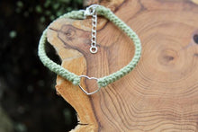 Load image into Gallery viewer, tiny heart light green cotton bracelet cotton anniversary