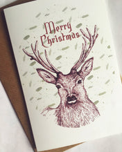 Load image into Gallery viewer, Stag Christmas Card - Single