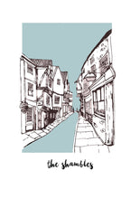Load image into Gallery viewer, The Shambles, York Illustration Print - A4