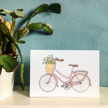 Load image into Gallery viewer, Vintage Pink Bicycle Card