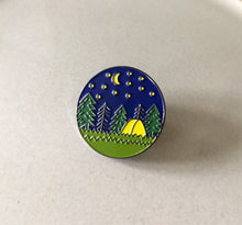 Load image into Gallery viewer, Camping Enamel Pin