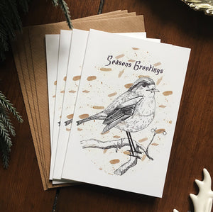 Illustrated Robin Christmas Card Set - Pack of 4