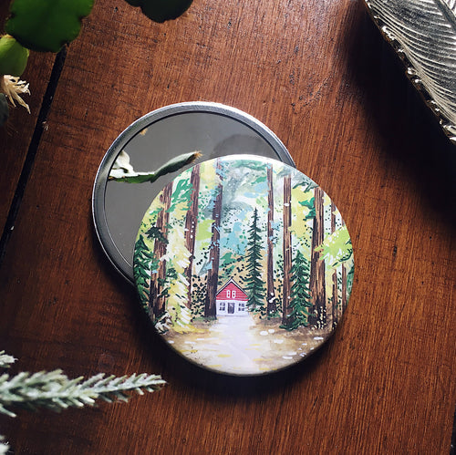 Cabin In The Woods Pocket Mirror