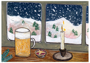Winter Beer - Limited Edition Mini Print A5