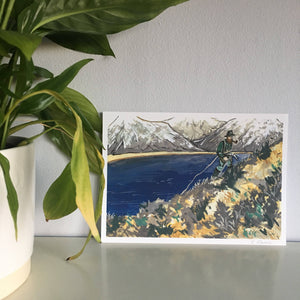 Mountain Climber Limited Edition Mini Print A5