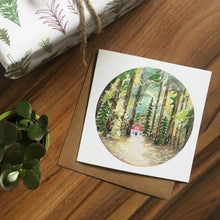 Load image into Gallery viewer, Cabin In The Woods Greetings Card