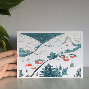 The Alps - Limited Edition Mini Print A5