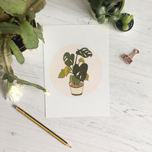 Load image into Gallery viewer, Monstera Illustration Mini Print